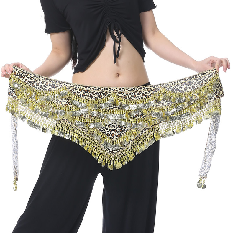 Dancewear Velvet Performance Belly Dancer Coins Belt For Ladies