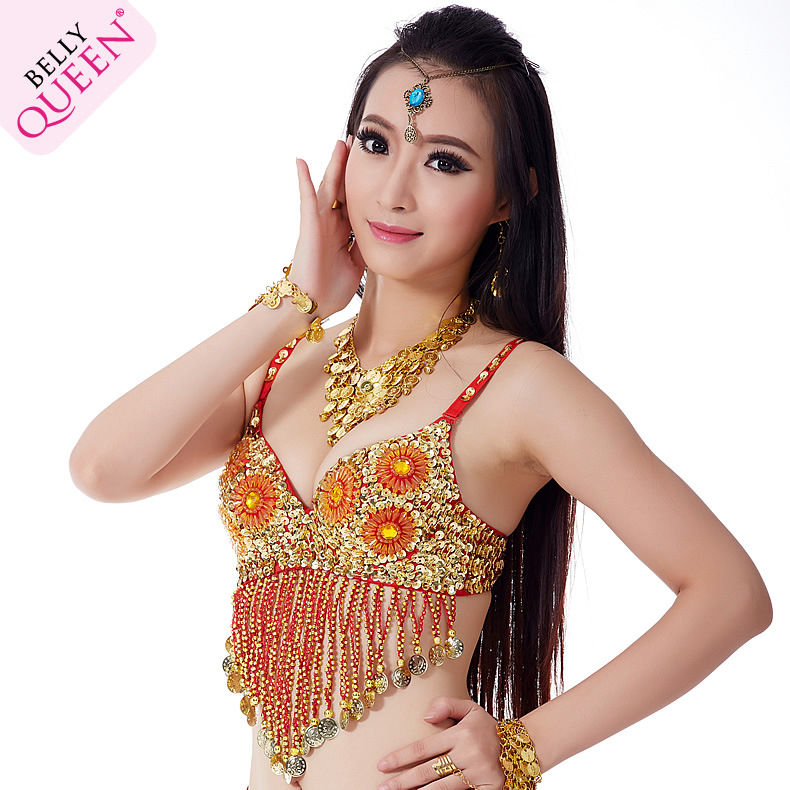 Plus Size Dancewear Polyester Belly Dance Tops For Ladies