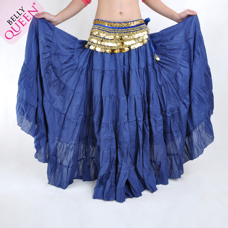 Dancewear Polyester Belly Dance Skirt For Ladies 12 colors