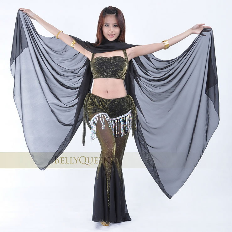 Dancewear Chiffon Belly Dance Veil For Women 250 cm*120cm