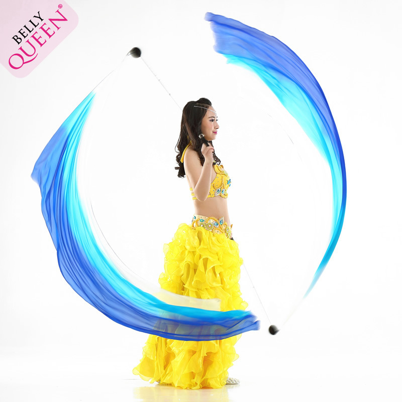 Belly Dance Poi Veil For Ladies (Silk) 2 pieces