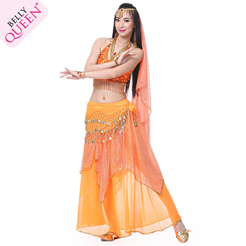 5 Pieces Dancewear Polyester Cheap Belly Dance Costume For Ladies