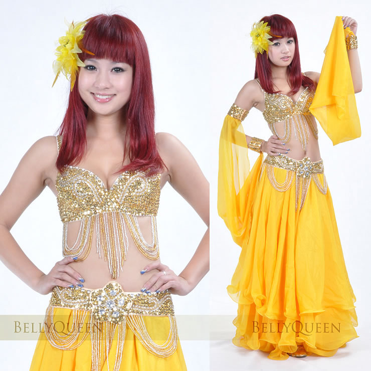 Dancewear Polyester Belly Dance Performance Costumes For Women