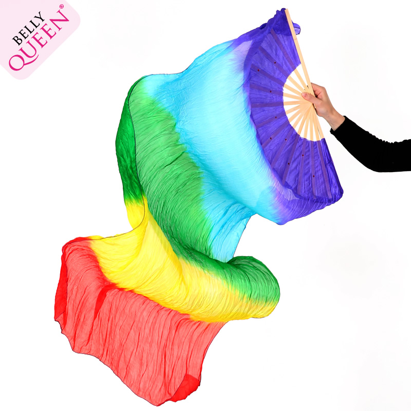2 Pcs Dancewear Belly Dance Silk Fan veil For Ladies