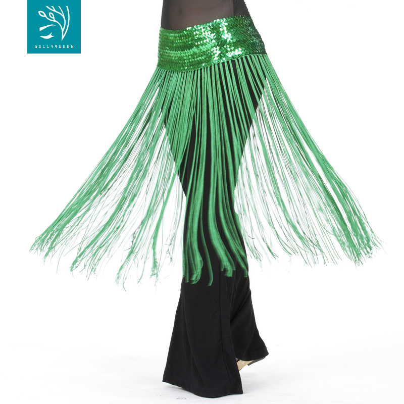 Dancewear Polyester Belly Dance Performance Hip Scarf With Tassel For Ladies