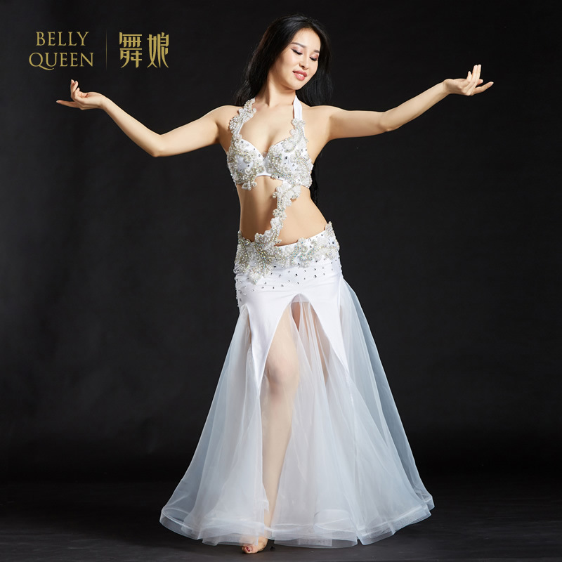 3 Pieces Dancewear Polyester Belly Dance Performance Costumes For Ladies