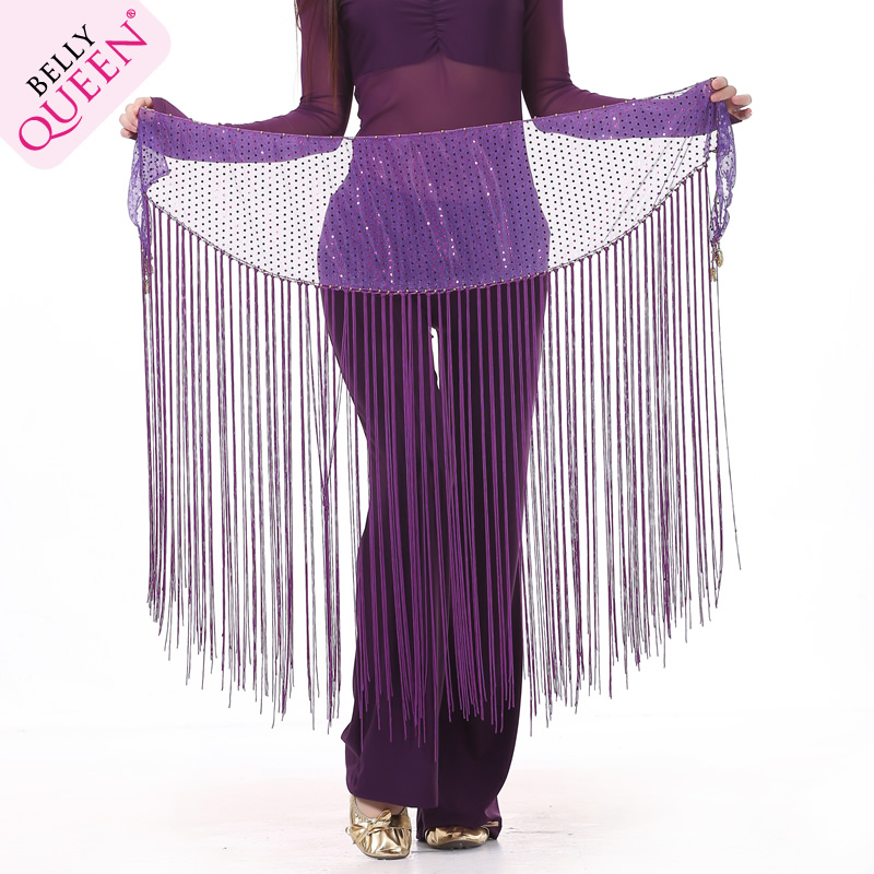 Belly Dance Hip Scarf With Tassel For Ladies More Colors