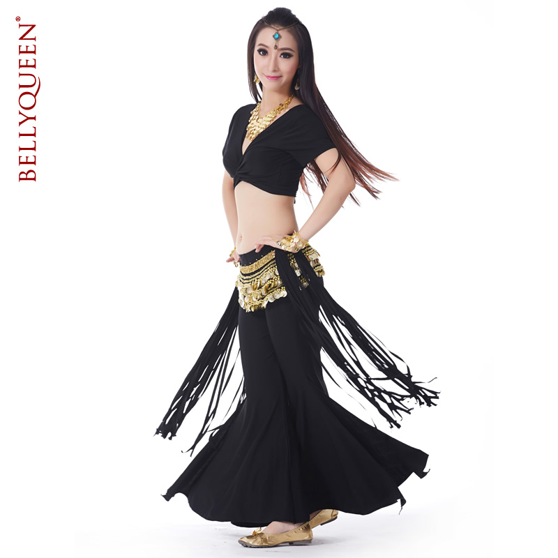 Dancewear Polyester Triabl Belly Dance Costumes For Ladies More Colors