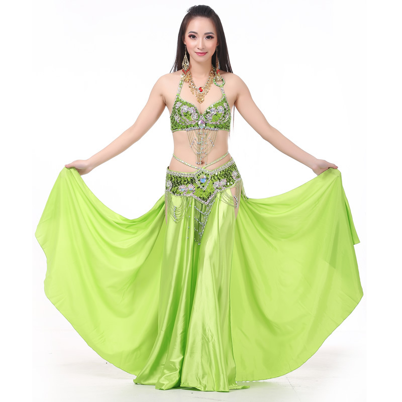 SEO_COMMON_KEYWORDS 3 Pieces Dancewear Polyester Belly Dance Performance Costumes For Women