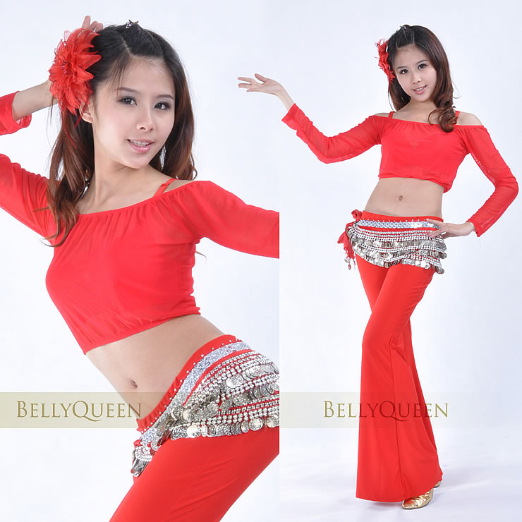 Dancewear Polyester Belly Dance Tops For ladies More Colors