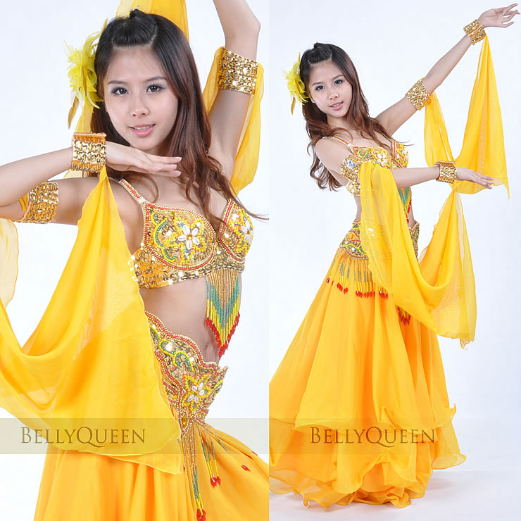 Dancewear Chiffon Belly Dance Sleeves 2 pieces More colors