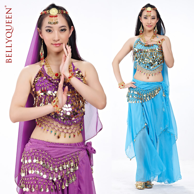 5 Pieces Dancewear Polyester Belly Dance Performance Wear For Ladies