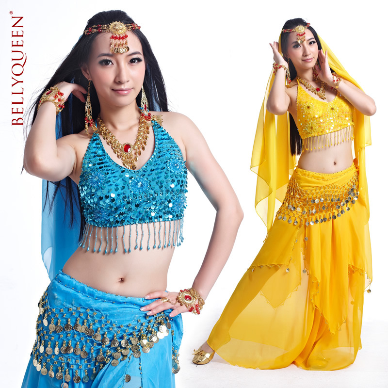 5 Pieces Dancewear Polyester Belly Dance Performance Wear