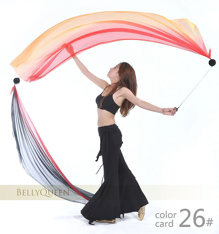 Belly Dance Poi Veil For Ladies More Colors