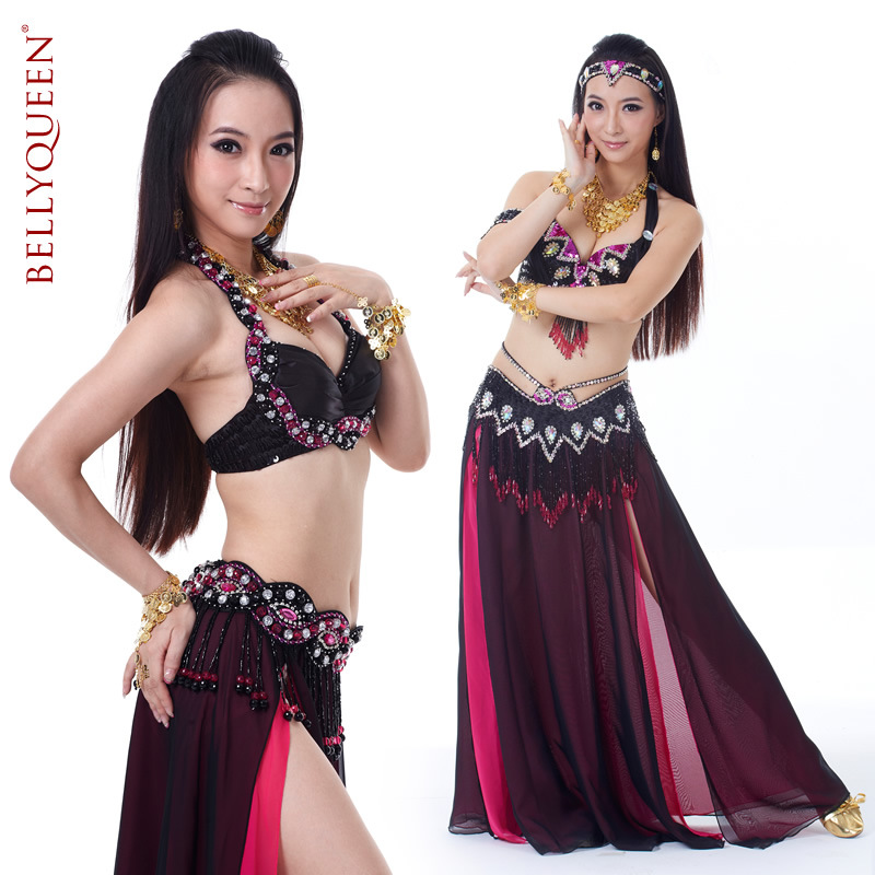 2 pieces Plus Size Dancewear Polyester Belly Dance Performance Costumes For Women