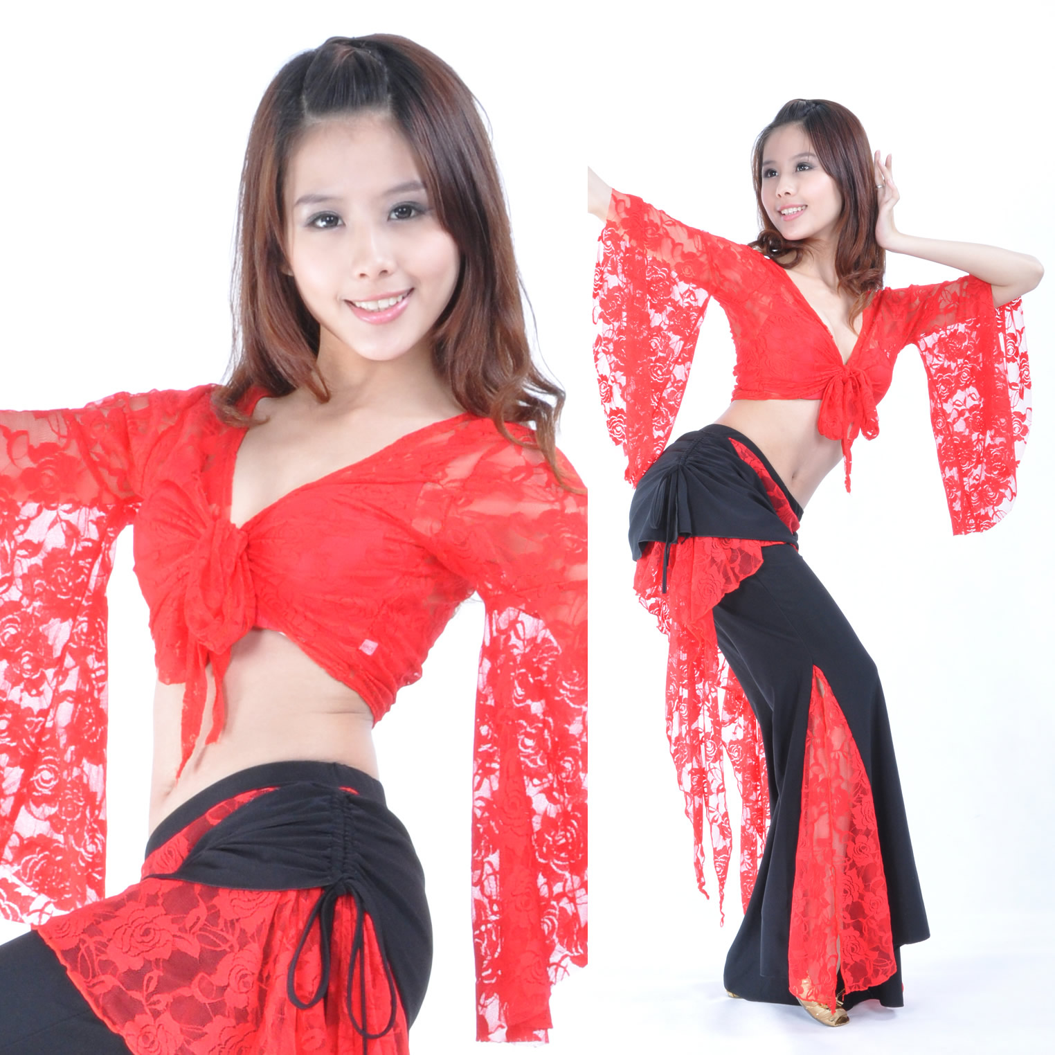 Dancewear Lace Belly Dance Costumes For Ladies More Colors