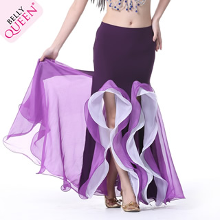 Wholesale Performance Dancewear Chiffon Belly Dance Skirt More Colors
