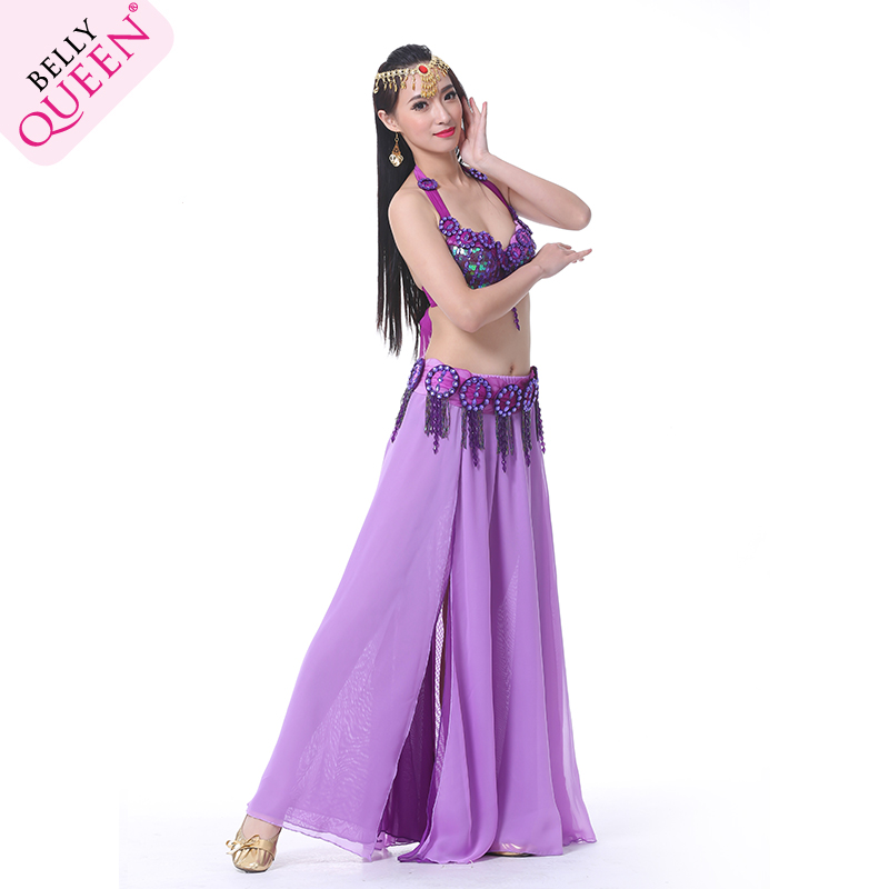 2 Pieces Dancewear Polyester Belly Dance Performance Costumes For Ladies