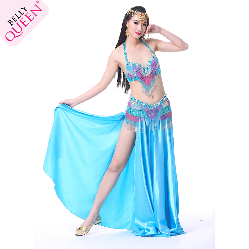 2 Pieces Dancewear Polyester Belly Dance Performance Costumes For Women