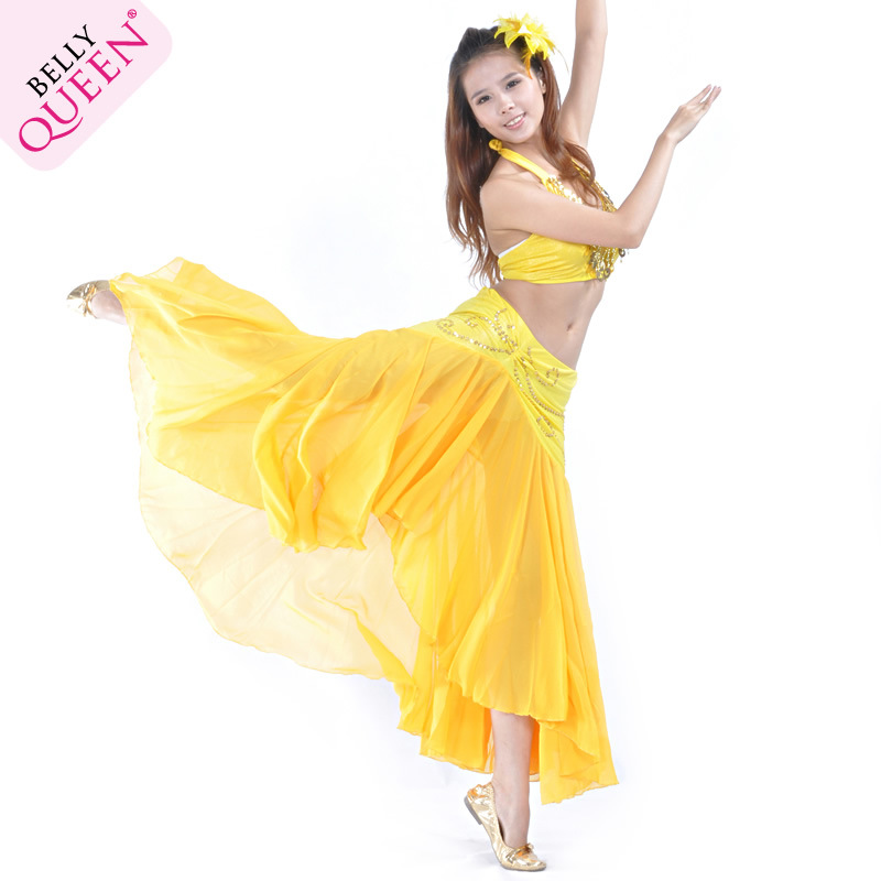 Dancewear Chiffon Belly Dance Skirt For Ladies More Colors
