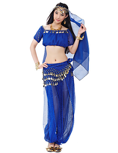 Dancewear Polyester Belly Dance Tops For Ladies