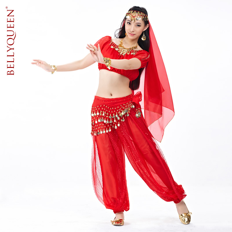 Dancewear Polyester Belly Dance Performance Wear For Ladies