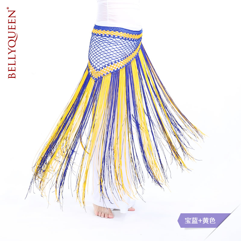 Dancewear Polyester Belly Dance Hip Scarf With Tassels More Colors