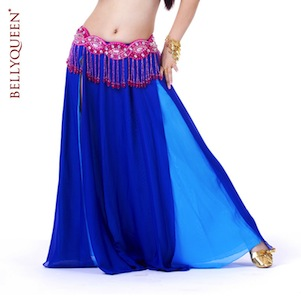 Dancewear Polyester Belly Dance Skirt For Ladies