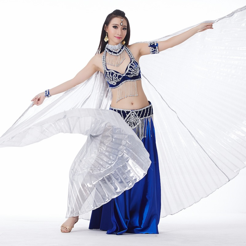 6 Pieces Dancewear Polyester Belly Dance Performance Costumes For Women