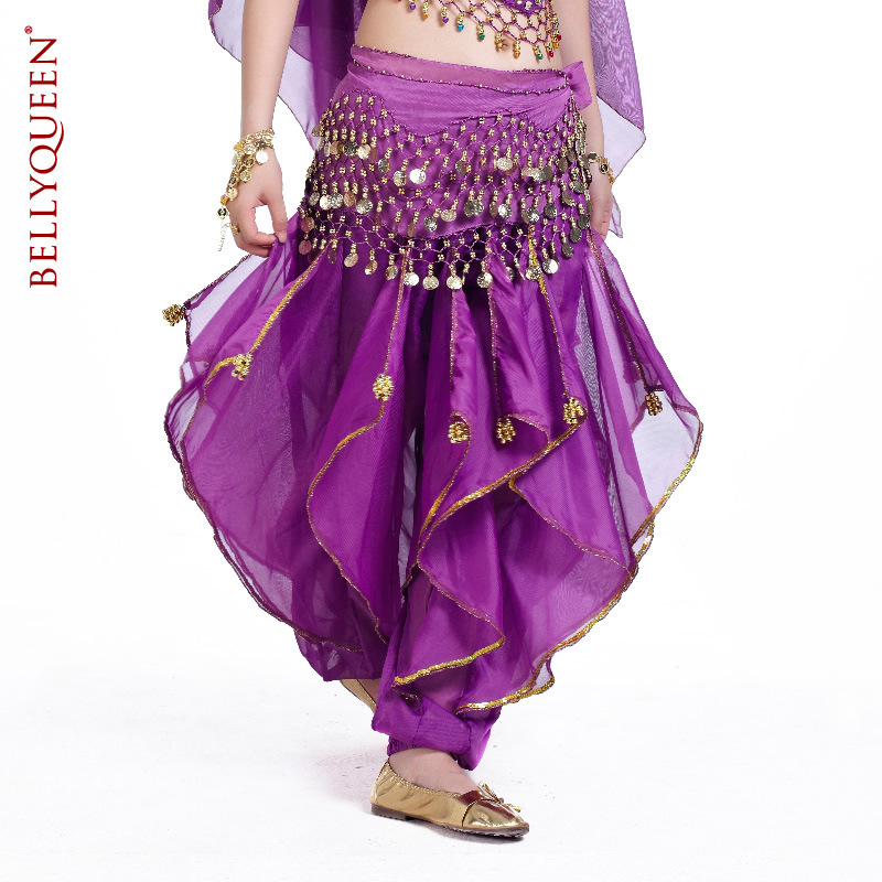 Dancewear Polyester With Gold Trim Belly Dance Harem pants For Ladies More Colors
