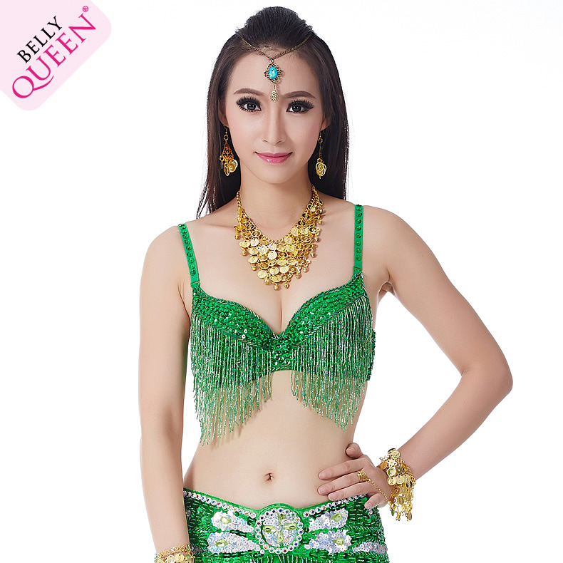 Plus Size Dancewear Polyester Belly Dance Tops With Tassel For Ladies