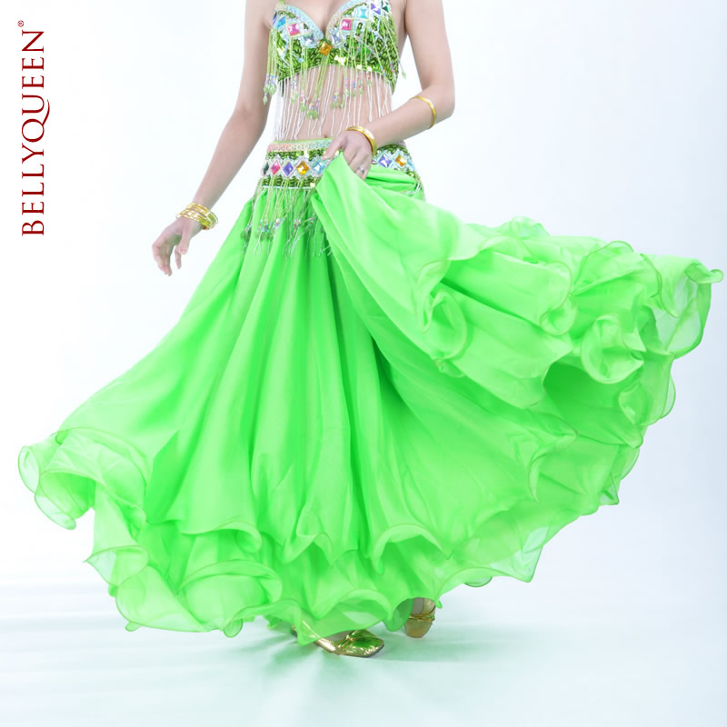 Performance Three Layer Chiffon Belly Dance Skirt