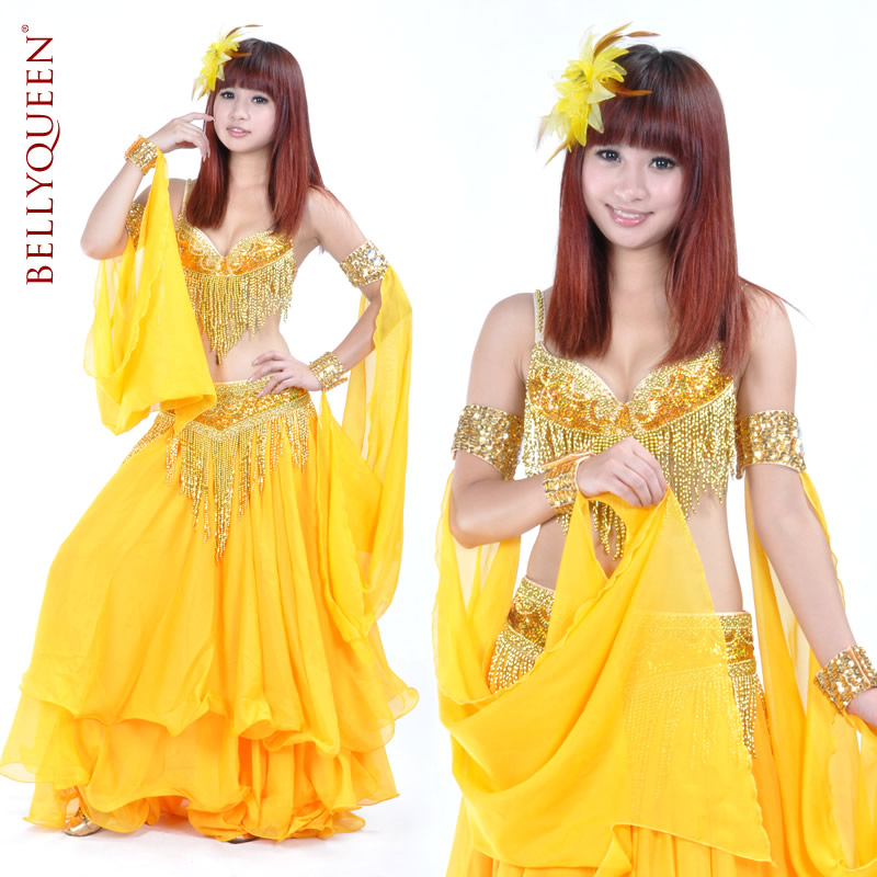 Dance Outfits Polyester Belly Dance Costumes For Ladies More Colors