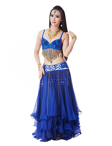3 Pieces Plus Size Dancewear Belly Dancing Performance Costumes