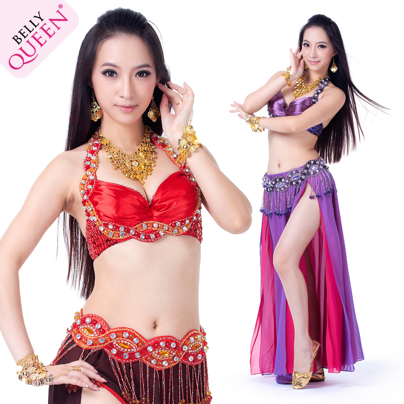 Wholesale Dancewear Polyester Belly Dance Performance Costumes For Women More Colors