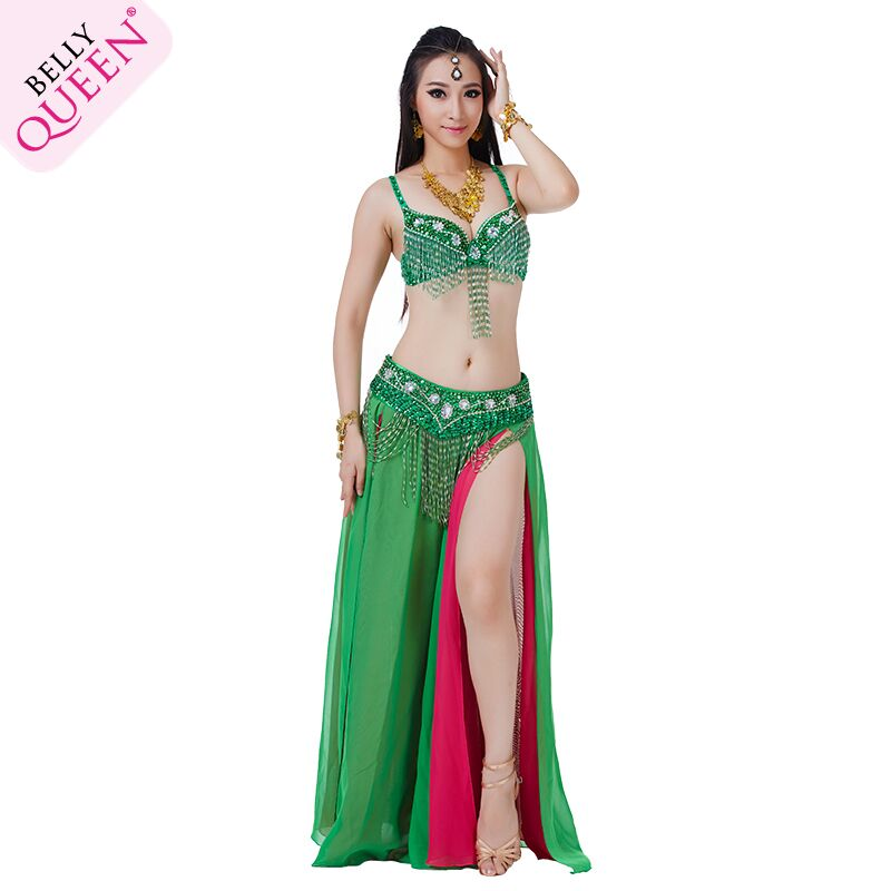 Dancewear Polyester Belly Dance Performance Costumes For Ladies More Colors