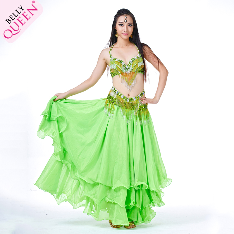 SEO_COMMON_KEYWORDS 3 Pieces Dancewear Polyester Belly Dance Performance Costumes For Ladies