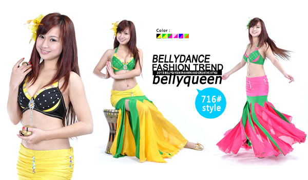 Belly Dance Tops And Skirt
