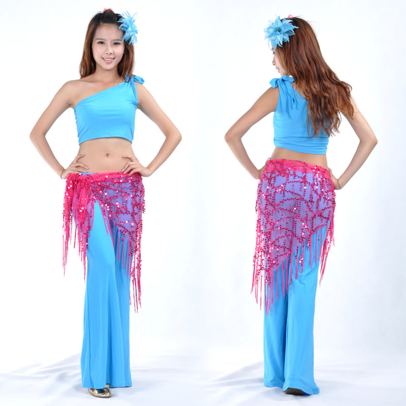 Dancewear Polyester Belly Dance Performance Triangle Hip Scarf For Ladies