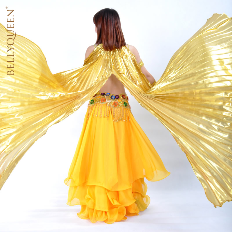 Dancewear Polyester Opening Belly Dance Isis Wing With Slit More Colors